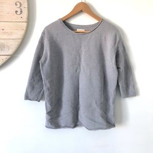 Aritzia | Wilfred Grey Ribbed Knit Sweater